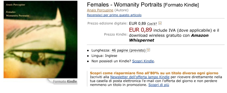 Females - Womanity Portraits eBook: Anais Porcupine: Amazon.it:
